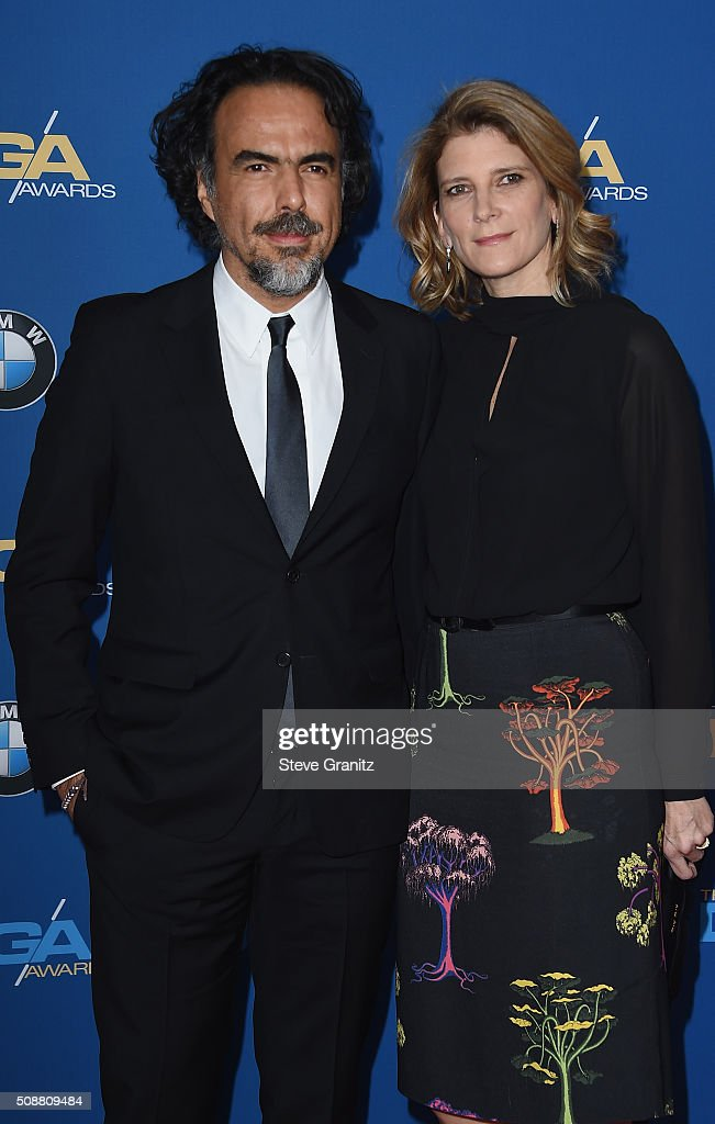 Director Alejandro Gonzalez Inarritu (L) and Maria Eladia attend the 68th Annual Directors Guild Of America Awards at the Hyatt Regency Century Plaza on February 6, 2016 in Los Angeles, California.