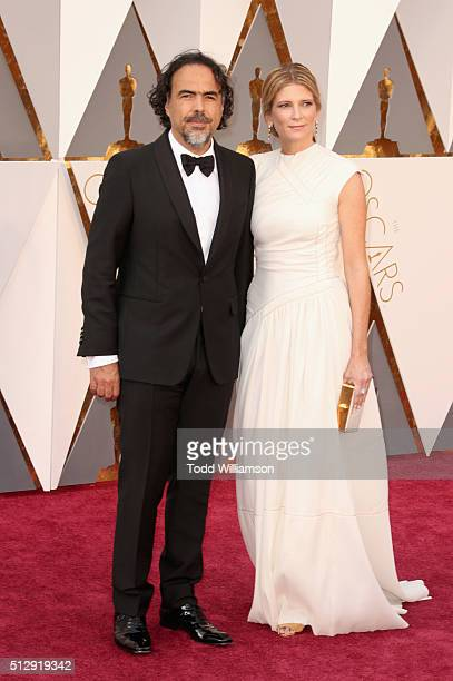 Director Alejandro Gonzalez Inarritu and Maria Eladia Hagerman attend the 88th Annual Academy Awards at Hollywood Highland Center on February 28 2016...