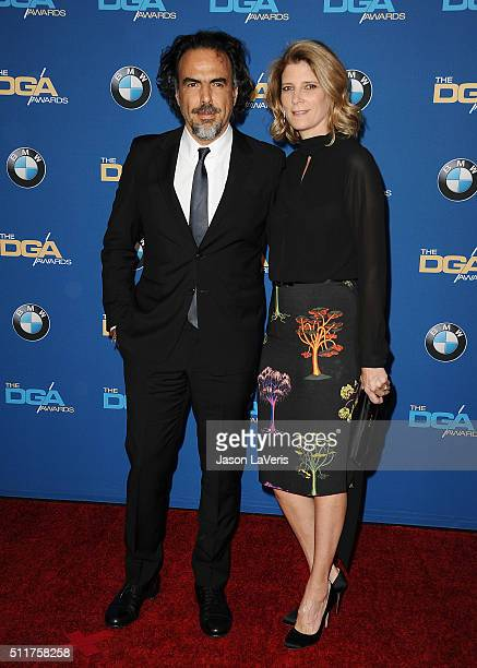 Director Alejandro Gonzalez Inarritu and wife Maria Eladia Hagerman attend the 68th annual Directors Guild of America Awards at the Hyatt Regency...