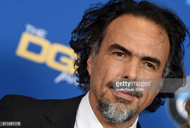 Director Alejandro Gonzalez Inarritu arrives at the 68th Annual Directors Guild of America Awards at the Hyatt Regency Century Plaza on February 6...