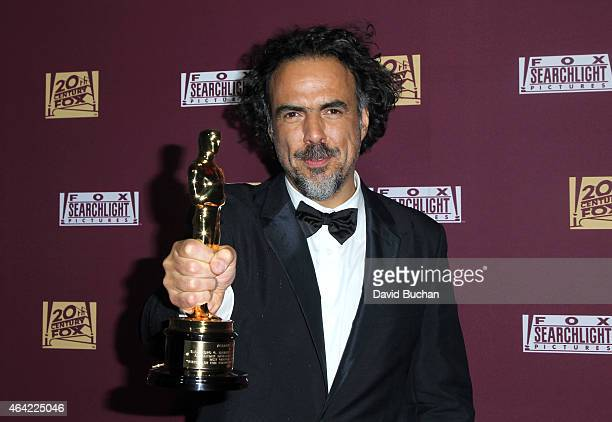 Director Alejandro Gonzalez Inarritu attends the 21st Century Fox and Fox Searchlight Oscar Party at BOA Steakhouse on February 22 2015 in West...