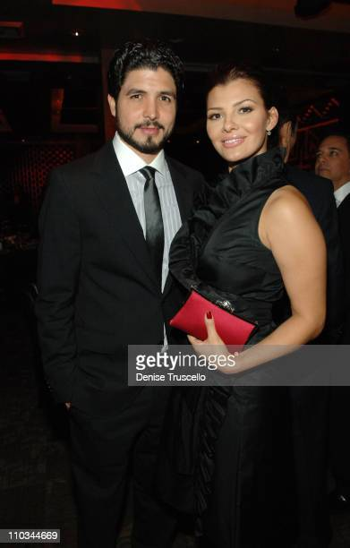 Director Alejandro Monteverde and actress Ali Landry attend a benefit for underprivileged youth sponsored by Versace at TAO Nightclub at The Venetian...