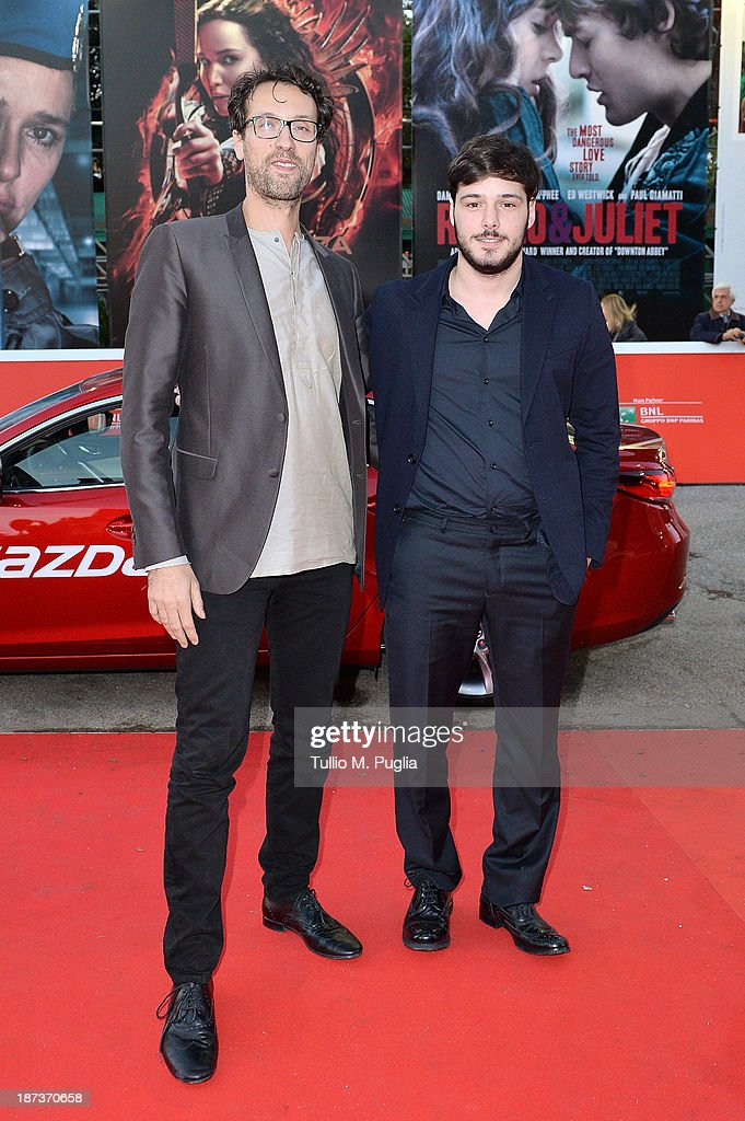 Director Alessandro Lunardelli and actor Filippo Scicchitano attends 'Il Mondo Fino In Fondo' Premiere during The 8th Rome Film Festival at the Auditorium Parco Della Musica on November 8, 2013 in Rome, Italy.