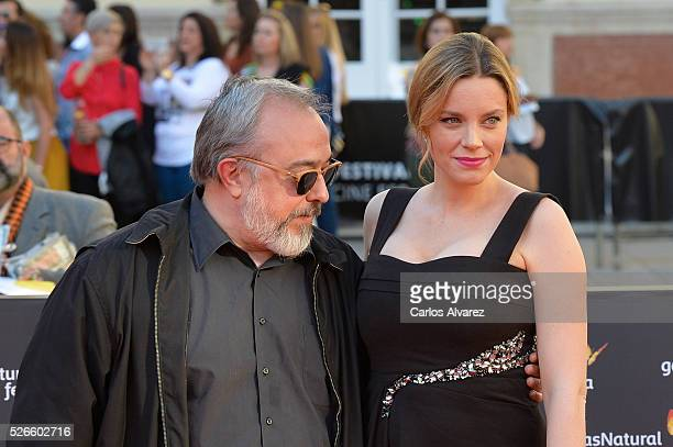 Director Alex de la Iglesia and actress Carolina Bang attend 'Nuestros Amantes' premiere at the Cervantes Teather during the 19th Malaga Film...