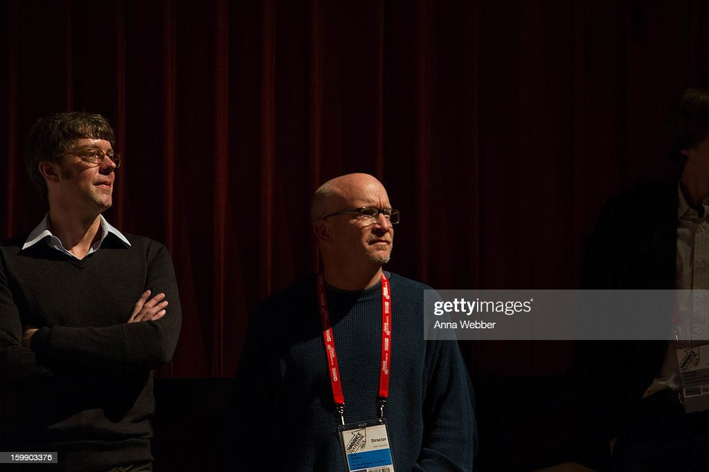 Director <a gi-track='captionPersonalityLinkClicked' href=/galleries/search?phrase=Alex+Gibney&family=editorial&specificpeople=844225 ng-click='$event.stopPropagation()'>Alex Gibney</a> attends GE/Focus Forward Special Screening - 2013 Park City on January 22, 2013 in Park City, Utah.