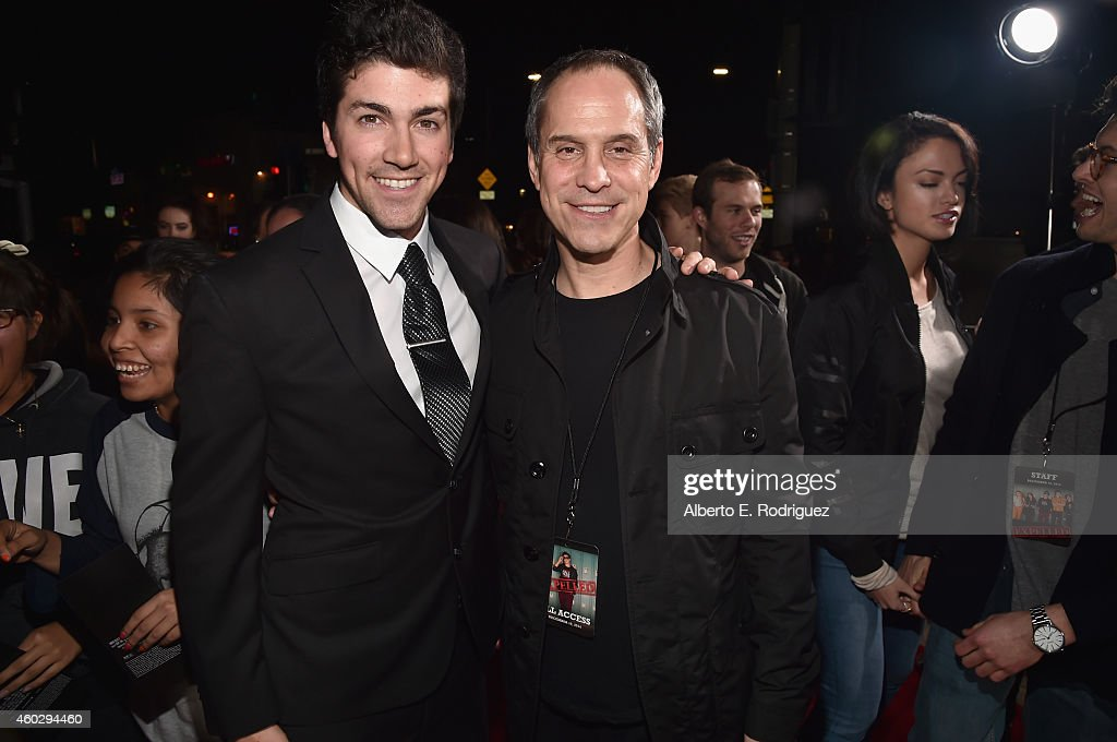 Director Alex Goyette and producer Brian Robbins attend the premiere of Awesomeness TV's 'EXPELLED' at Westwood Village Theatre on December 10 2014...