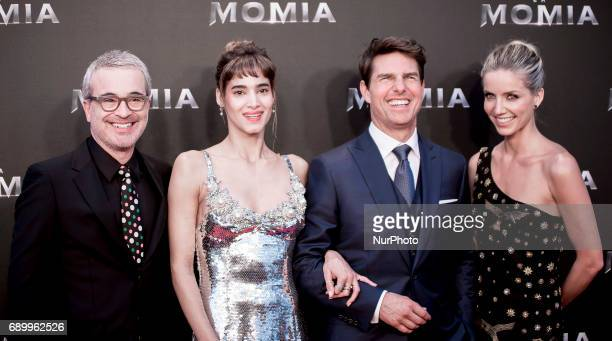 Director Alex Kurtzman actress Sofia Boutella actor Tom Cruise and actress Annabelle Wallis attend 'The Mummy' premiere at Callao Cinema on May 29...