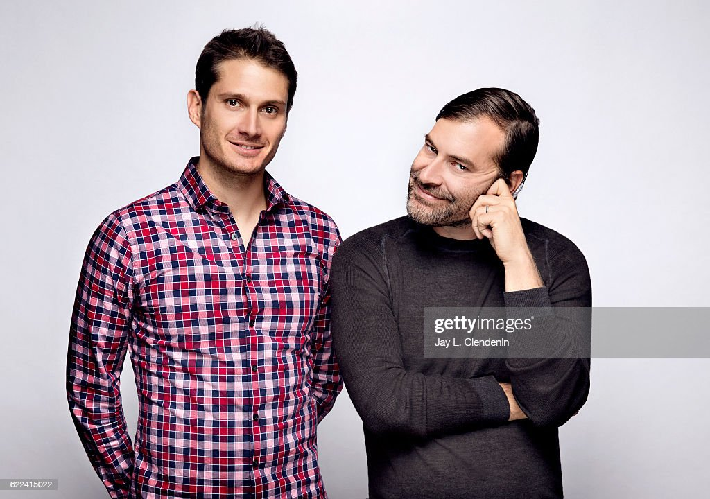 Director Alex Lehmann and actor Mark Duplass, from the film Blue Jay, pose for a portraits at the Toronto International Film Festival for Los Angeles Times on September 12, 2016 in Toronto, Ontario.