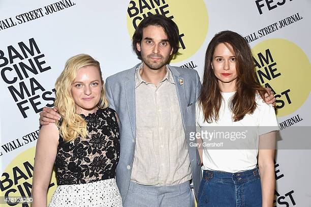 Director Alex Ross Perry and actors Elisabeth Moss and Katherine Waterston attend 'Queen Of Earth' premiere during BAMcinemaFest 2015 at BAM Peter...