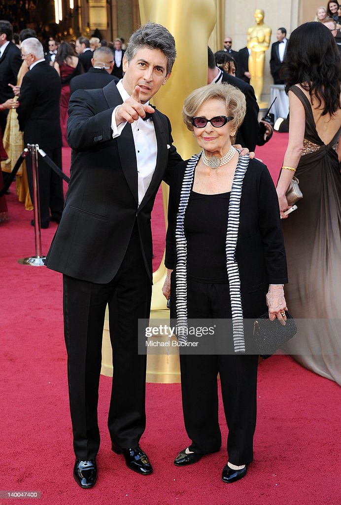 Director Alexander Payne (L) and mother Peggy arrive at the 84th Annual Academy Awards held at the Hollywood & Highland Center on February 26, 2012 in Hollywood, California.