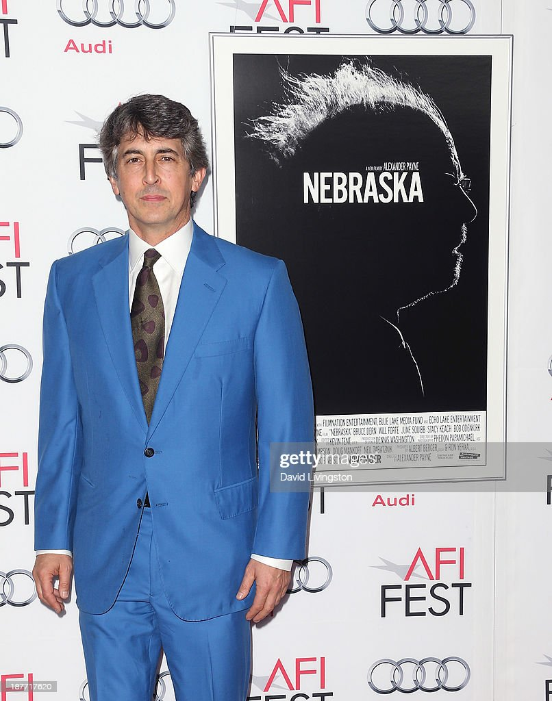 Director <a gi-track='captionPersonalityLinkClicked' href=/galleries/search?phrase=Alexander+Payne&family=editorial&specificpeople=202578 ng-click='$event.stopPropagation()'>Alexander Payne</a> attends the AFI FEST 2013 presented by Audi screening of 'Nebraska' at the TCL Chinese Theatre on November 11, 2013 in Hollywood, California.