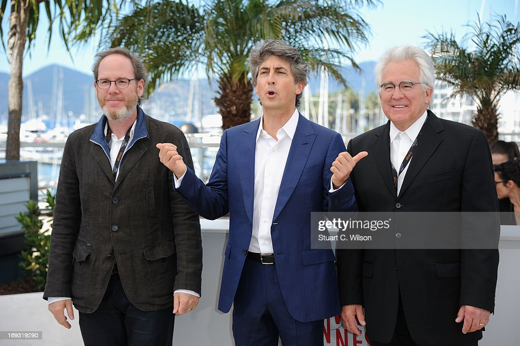 Director <a gi-track='captionPersonalityLinkClicked' href=/galleries/search?phrase=Alexander+Payne&family=editorial&specificpeople=202578 ng-click='$event.stopPropagation()'>Alexander Payne</a> (C) attends the Photocall for 'Nebraska' during The 66th Annual Cannes Film Festival at the Palais des Festival on May 23, 2013 in Cannes, France.