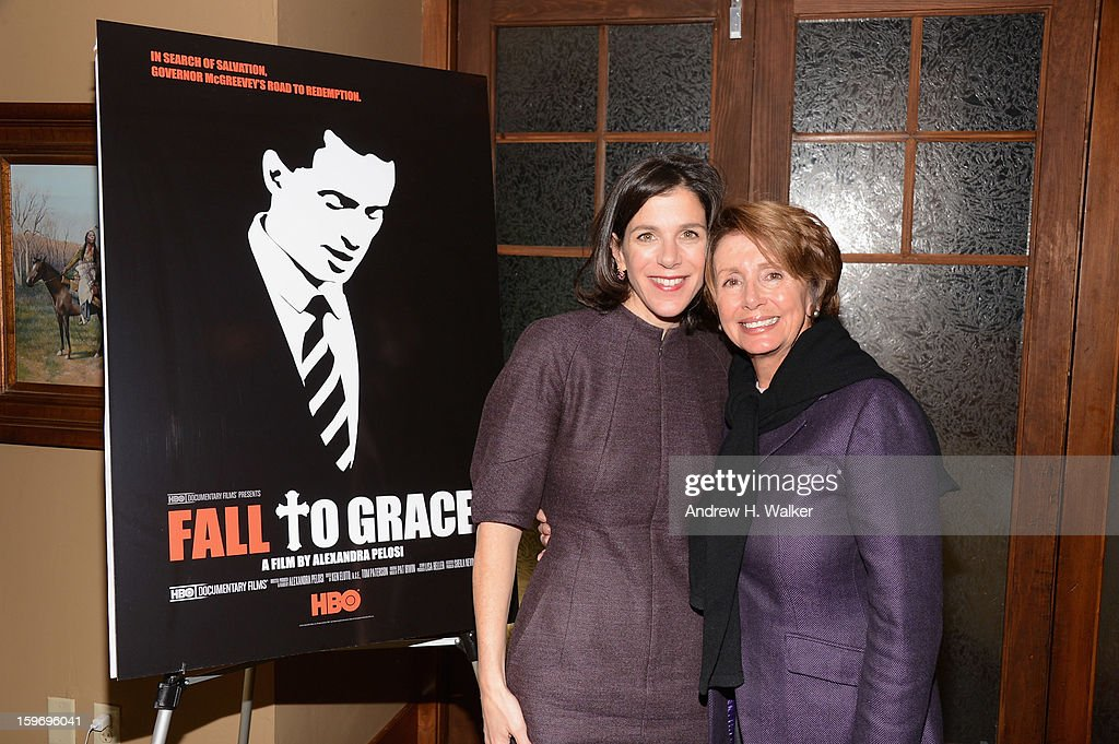 Director Alexandra Pelosi and Minority Leader of the United States House of Representatives Nancy Pelosi attend the 'Fall To Grace' and 'The Battle Of AMFAR' Brunch hosted by HBO on January 18, 2013 in Park City, Utah.
