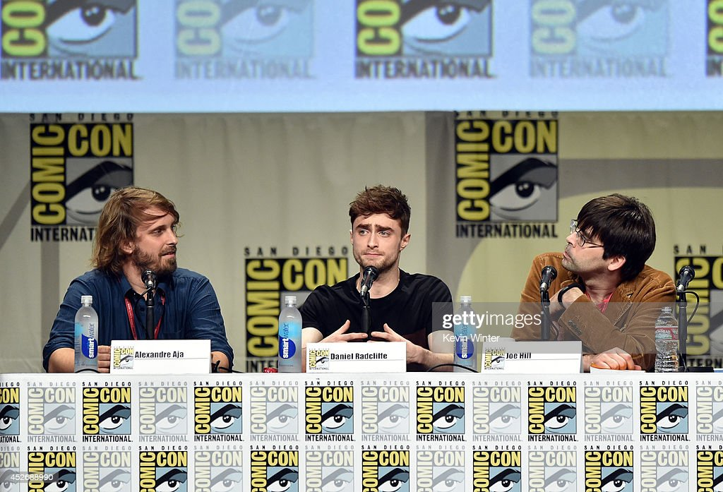 Director Alexandre Aja, actor Daniel Radcliffe and author Joe Hill attend the Sony Pictures presentation during Comic-Con International 2014 at San Diego Convention Center on July 25, 2014 in San Diego, California.