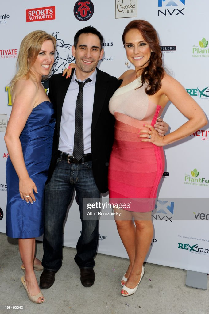 Director Alexa-Sascha Lewin, producer Michael Onofri and Selah Victor arrive at the Los Angeles premiere of a new comedy series 'Trainers' at Fox Studio Lot on May 9, 2013 in Century City, California.