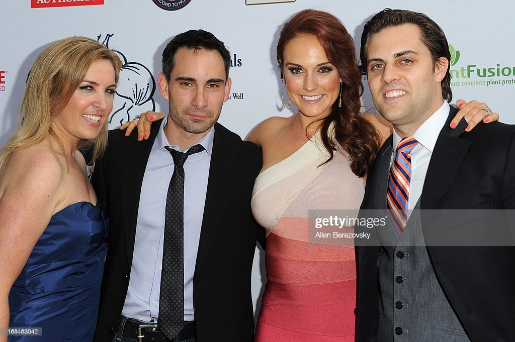 Director Alexa-Sascha Lewin, producer Michael Onofri, Selah Victor and Tony Muscio arrive at the Los Angeles premiere of a new comedy series 'Trainers' at Fox Studio Lot on May 9, 2013 in Century City, California.