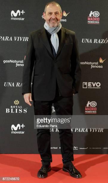 Director Alfonso Albacete attends the 'Una razon para vivir' premiere on November 9 2017 in Madrid Spain