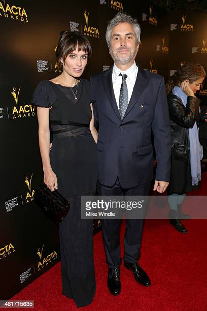 Director Alfonso Cuarón and author Sheherazade Goldsmith attend the 3rd AACTA International Awards at Sunset Marquis Hotel Villas on January 10 2014...