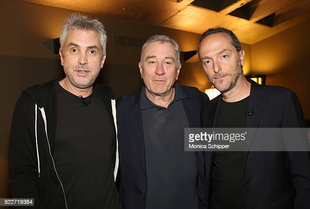 Director Alfonso Cuaron actor Robert De Niro and director cinematographer Emmanuel Lubezki attend Tribeca Talks Directors Series Alfonso Cuaron at...