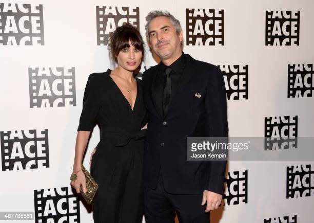 Director Alfonso Cuaron and Sheherazade Goldsmith attend the 64th Annual ACE Eddie Awards at Paramount Studios on February 7 2014 in Hollywood...