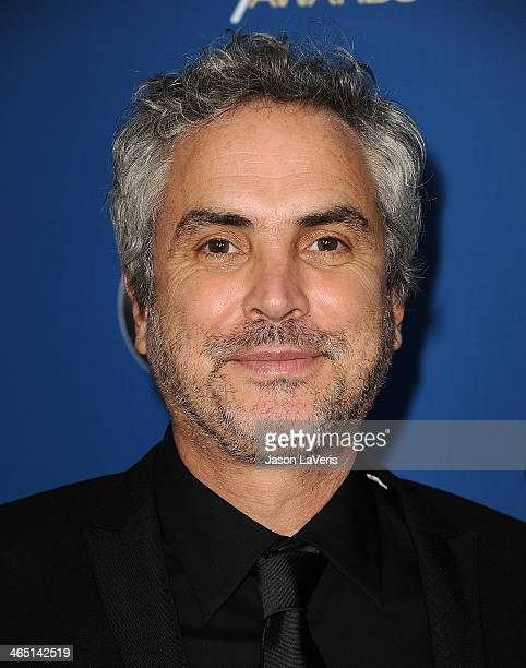 Director Alfonso Cuaron attends the 66th annual Directors Guild of America Awards at the Hyatt Regency Century Plaza on January 25 2014 in Century...