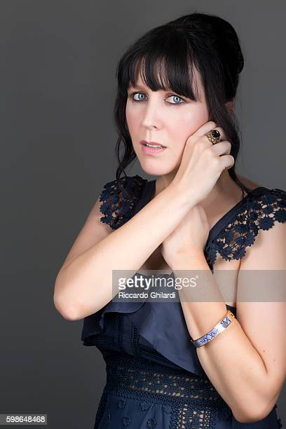 Director Alice Lowe is photographed for Self Assignment on September 1 2016 in Venice Italy