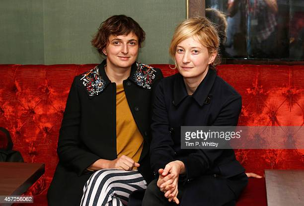 Director Alice Rohrwacher and actress Alba Rohrwacher attend the Film Maker Afternoon Tea during the 58th BFI London Film Festival at The Mayfair...