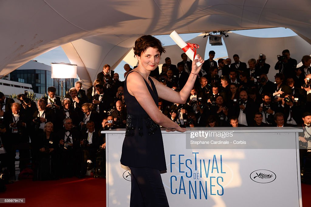 Director Alice Rohrwacher, winner of The Grand Prix for her film 'The Wonders' at the Winners photocall during 67th Cannes Film Festival
