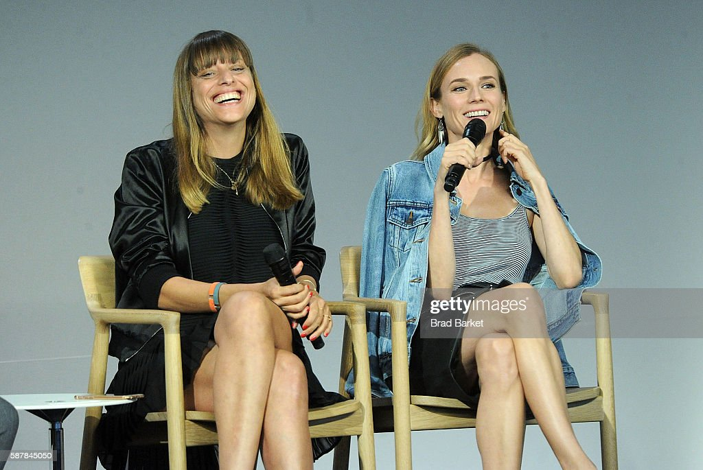 Director Alice Winocour and Diane Kruger discuss the film 'Disorder' at the Apple Store Soho on August 9 2016 in New York City