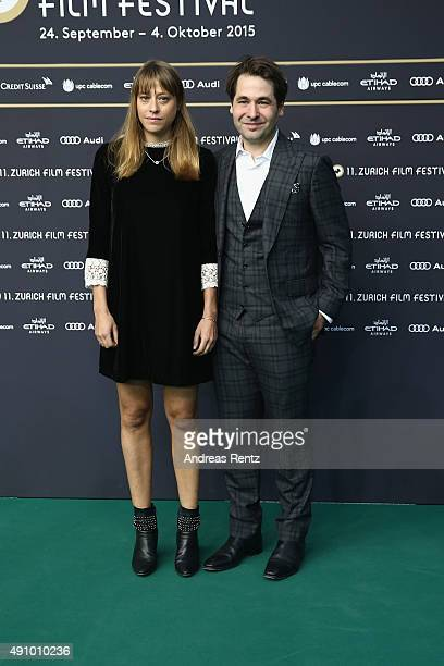 Director Alice Winocour and Karl Spoerri attend the 'Maryland' Premiere during the Zurich Film Festival on October 2 2015 in Zurich Switzerland The...