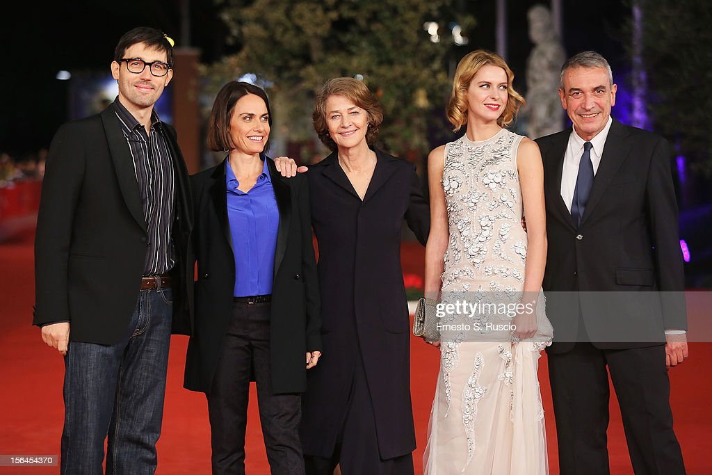 Director Alina Marazzi and actresses <a gi-track='captionPersonalityLinkClicked' href=/galleries/search?phrase=Charlotte+Rampling&family=editorial&specificpeople=212770 ng-click='$event.stopPropagation()'>Charlotte Rampling</a> and Elena Radonicich and producer Gianfilippo Pedote attend the 'Tutto Parla Di Te' Premiere during the 7th Rome Film Festival at the Auditorium Parco Della Musica on November 15, 2012 in Rome, Italy.