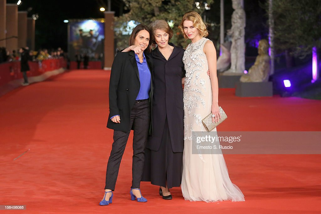 Director Alina Marazzi and actresses <a gi-track='captionPersonalityLinkClicked' href=/galleries/search?phrase=Charlotte+Rampling&family=editorial&specificpeople=212770 ng-click='$event.stopPropagation()'>Charlotte Rampling</a> and Elena Radonicich attend the 'Tutto Parla Di Te' Premiere during the 7th Rome Film Festival at the Auditorium Parco Della Musica on November 15, 2012 in Rome, Italy.