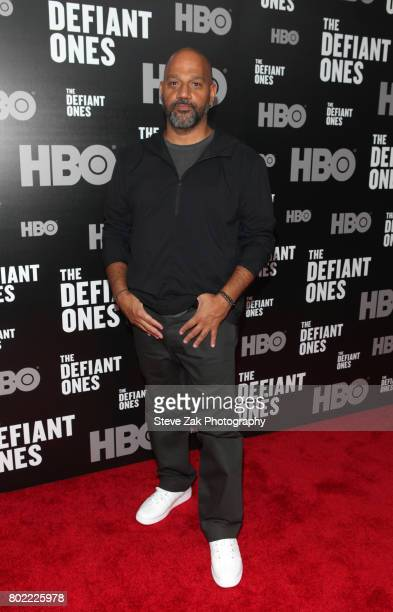 Director Allen Hughes attends the 'The Defiant Ones' New York premiere at Time Warner Center on June 27 2017 in New York City