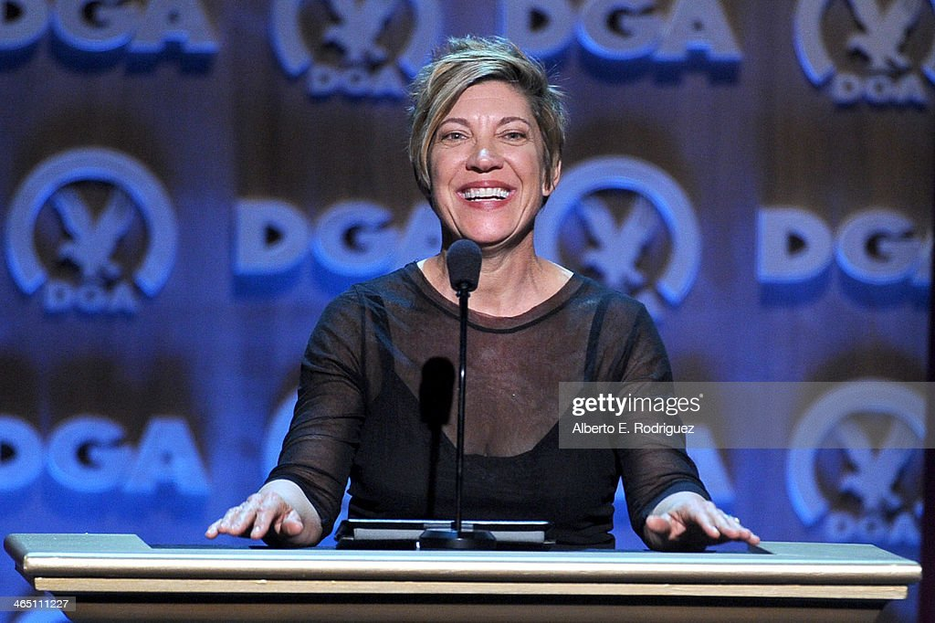 Director Allison LiddiBrown speaks onstage at the 66th Annual Directors Guild Of America Awards held at the Hyatt Regency Century Plaza on January 25...
