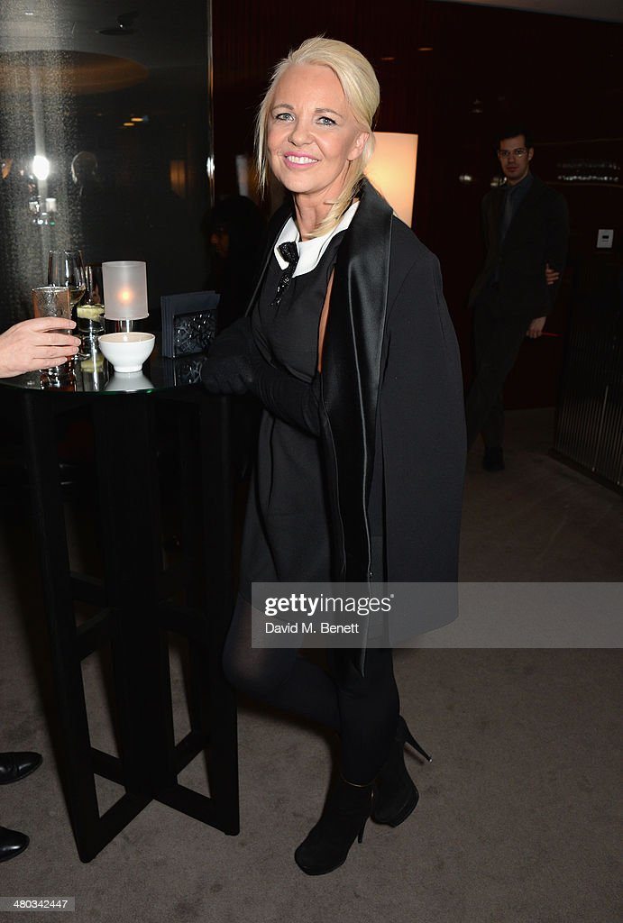 Director Amanda Eliasch attends a private screening of 'The Gun The Cake and The Butterfly' hosted by director Amanda Eliasch at the Bulgari Hotel on...