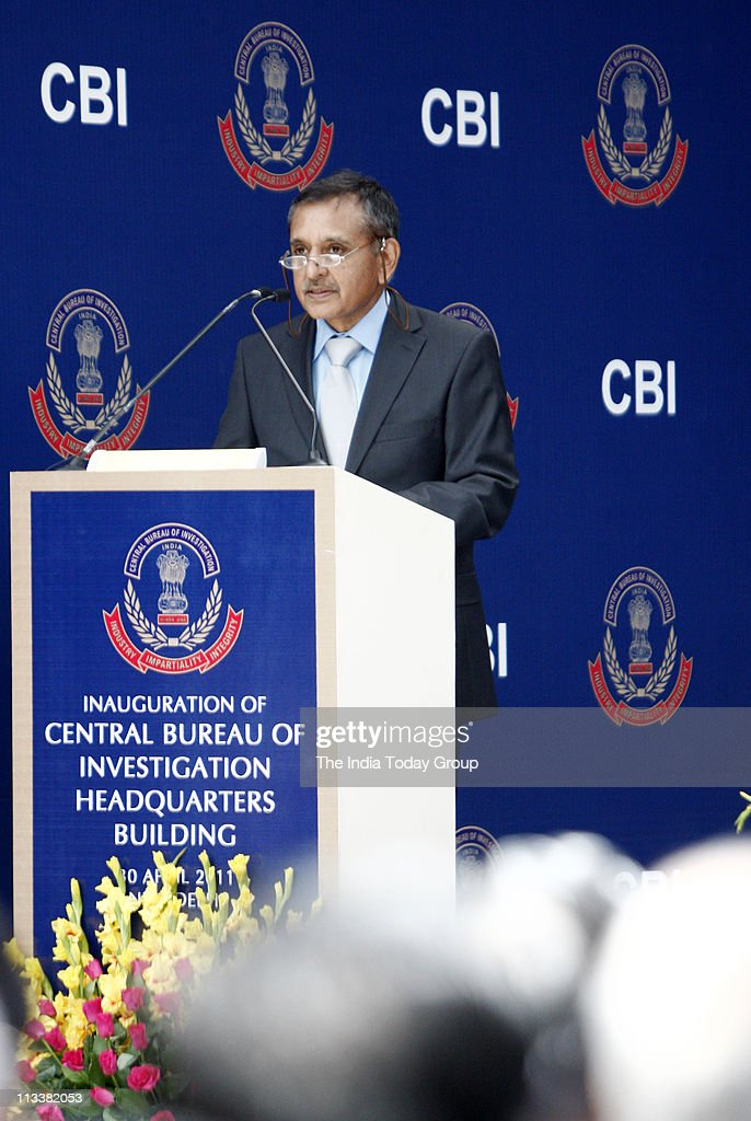 CBI director Amar Pratap Singh speaks during the inauguration of the new stateoftheart headquarters of the Central Bureau of Investigation on...