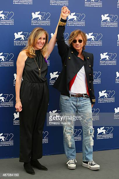 Director Amy Berg and Gianna Nannini attend a photocall for 'Janis' during the 72nd Venice Film Festival at on September 6 2015 in Venice Italy