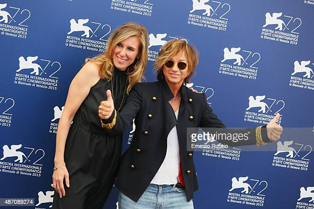Director Amy Berg and Gianna Nannini attend a premiere for 'Janis' during the 72nd Venice Film Festival at Sala Grande on September 6 2015 in Venice...