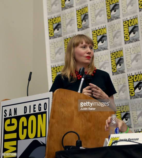 Director Amy Nicholson moderates the Bold Voice of Contemporary Horror Panel at the 2017 ComicCon International on July 22 2017 in San Diego...