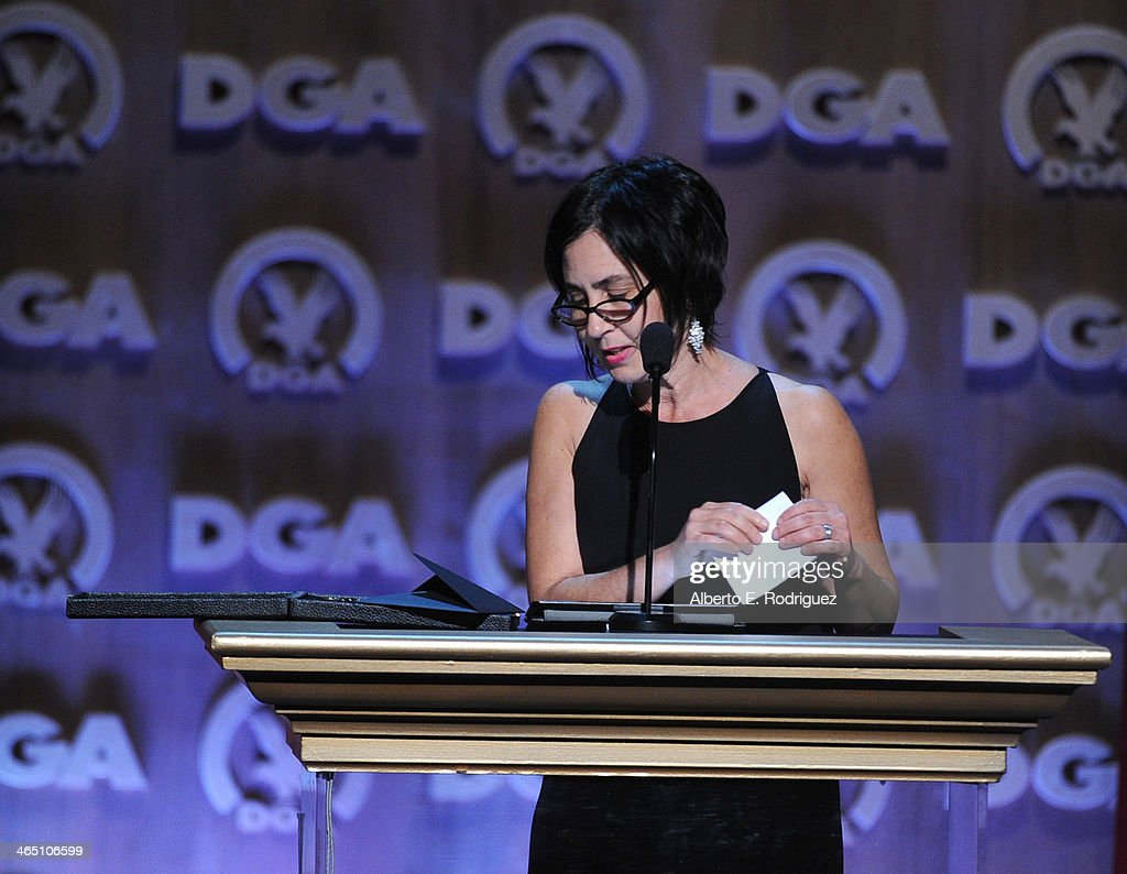 Director Amy Schatz accepts the Children's Programs DGA Award for 'An Apology to Elephants' onstage at the 66th Annual Directors Guild Of America...