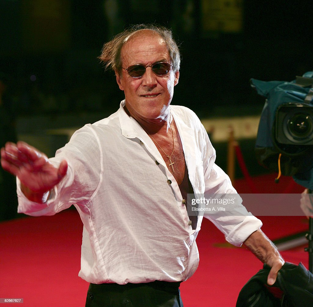 Director and actor Adriano Celentano attends the 'Yuppi Du' premiere during the 65th Venice Film Festival on September 4 2008 in Venice Italy