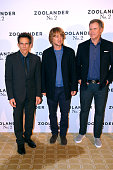 Director and Actor Ben Stiller Actors Owen Wilson and Will Ferrell attend the 'Zoolander 2' Paris Photocall at Hotel Plaza Athenee on January 29 2016...