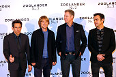 Director and Actor Ben Stiller Actors Owen Wilson Will Ferrell and Justin Theroux attend the 'Zoolander 2' Paris Photocall at Hotel Plaza Athenee on...