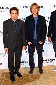 Director and Actor Ben Stiller and Actor Owen Wilson attend the 'Zoolander 2' Paris Photocall at Hotel Plaza Athenee on January 29 2016 in Paris...
