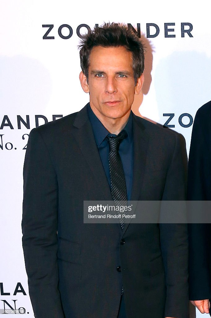 Director and Actor Ben Stiller attends the 'Zoolander 2' Paris Photocall at Hotel Plaza Athenee on January 29 2016 in Paris France