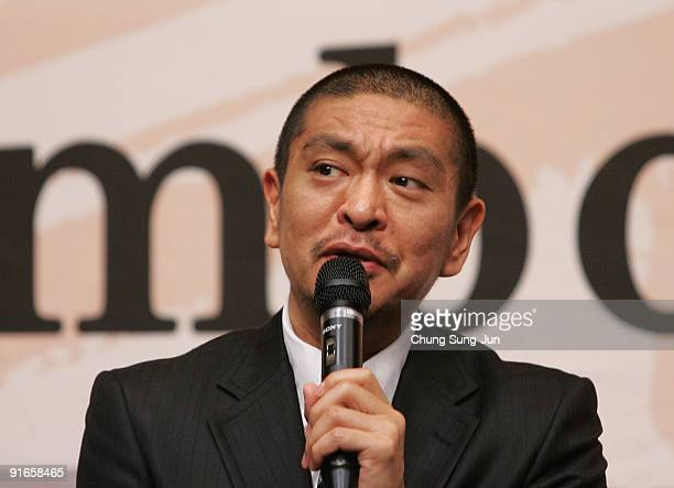 Director and actor Hitoshi Matsumoto attends a Press ConferenceGala Presentation 'Symbol' during the 14th Pusan International Film Festival at the...