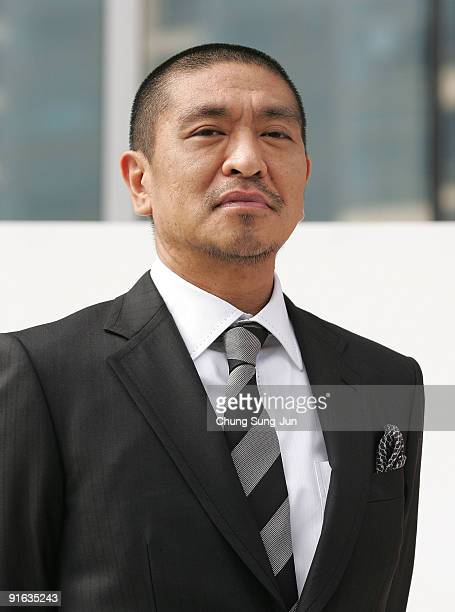 Director and actor Hitoshi Matsumoto attends at the photocall for the Gala Presentation 'Symbol' during the 14th Pusan International Film Festival at...