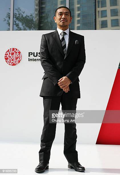 Director and actor Hitoshi Matsumoto attends the photocall for the Gala Presentation 'Symbol' during the 14th Pusan International Film Festival at...
