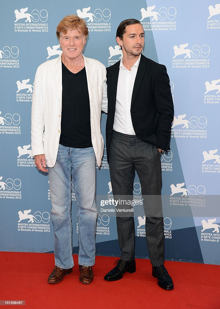 Director and actor Robert Redford and actor Shia LaBeouf attends 'The Company You Keep' Photocall during the 69th Venice Film Festival at the Palazzo...