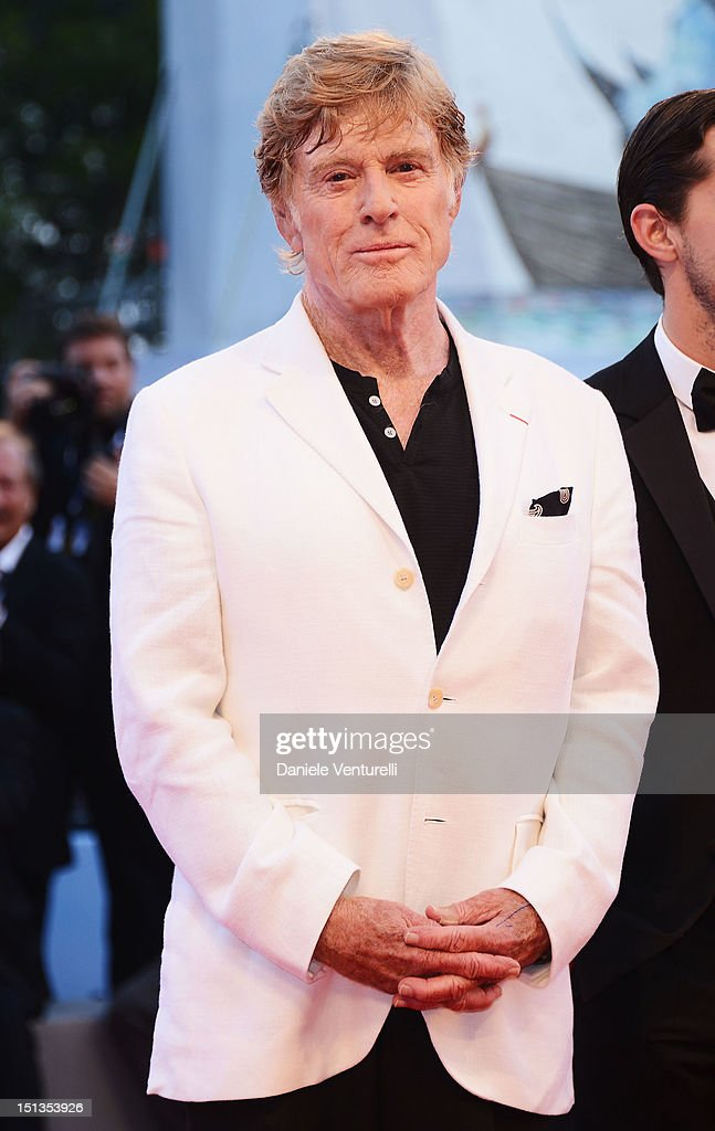 Director and actor Robert Redford attends 'The Company You Keep' Premiere during The 69th Venice Film Festival at the Palazzo del Cinema on September...